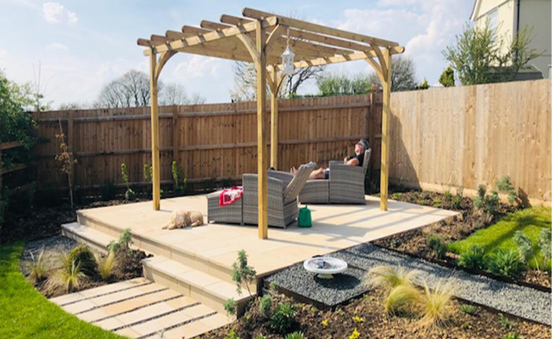 New Build Rear Garden, White Colne | Jon Gower Garden Design