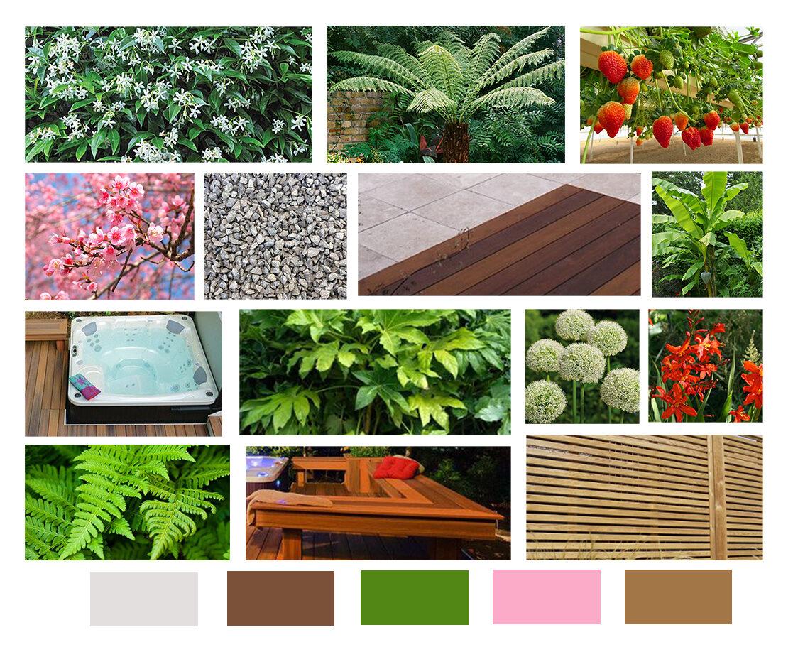 Tropical Garden with Hot Tub, Essex | Jon Gower Garden Design